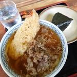 どんどん - 料理写真:肉天うどん(550円)のりむすび(100円)