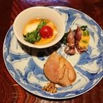 106778582 - 鴨燻製・ほたるいか・湯葉と菜の花の三杯酢