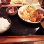 10678287 - 八尾市『洋食や』日替わり定食(780円) フライ物がサクッと旨‼