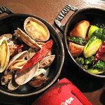 CHABUYA MORIZUMI★CUISINE - あさり蒸し+焼野菜