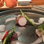 Arashida - イザキの炙り、サラダ仕立て