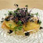 銀座風月堂 - スモークサーモンと春野菜のヴィネグレットマリネ