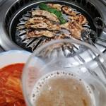 元祖チキンハウス - 料理写真:ネックが焼きあがり〜