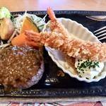 さわやか - 料理写真:ハンバーグとエビフライ