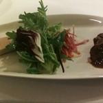 ルミエール デュ ソレイユ - 2011年12月 前菜:鴨、フォアグラ、サラダ