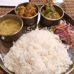 Puja - ランチ、カマスのマスタードカレーセット