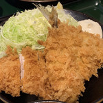 とんかつ こころ - アジ・ひれかつ定食 ¥850