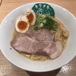笑顔ノキラメキ - 料理写真:鶏白湯らーめん ※煮たまご追加