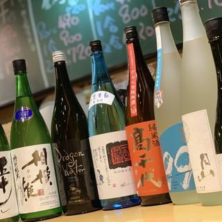 季節によって日本酒をご用意