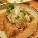 新日本料理 旬味 すずの木 - 厚揚げの麻婆ソースがけ