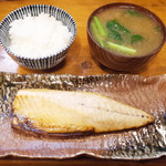 きっちん大浪 - 塩さば定食(1000円)