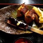 カドヤ - 田楽、鰻いなり(わさび、酢飯)天ぷらいなり