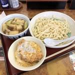 山田うどん - 肉汁うどん・ミニかつ丼