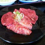 米沢牛・炭火焼肉 さか野 - 米沢牛カルビ・ロースランチ