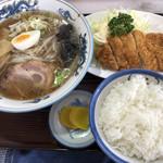 食事処 アカギ - 料理写真:ラーメンかつセット