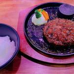 OKステーキ - 「炭火焼ハンバーグ(800円:税抜)」