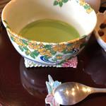 106828012 - おうすの茶器の柄が素敵です♡スプーン置きもあやめ♡