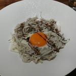 TexturA - 白魚のプランチャ バルサミコソース