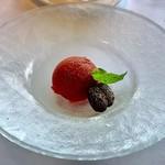 リストランテ・ヒロ・チェントロ - デザート       イチゴのソルベ