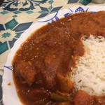 アリーズ キッチン - 激辛コンボの肉カレー