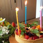 フランス料理 サンク - ケーキは別料金