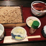 手打そば 河邉 - NEW!!2011.12 うな丼蕎麦セット