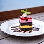 サドルバック - 料理写真:ベリー&ブラッドオレンジケーキ