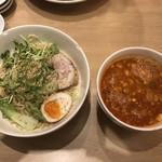 辛麺屋 玄 - 坦々風つけ麺+ねぎゴマ(トッピング)