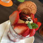 ソレイユカフェ - いちごのミニパフェ  750円税込