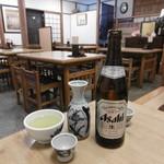 106859657 - 熱燗、ビール
