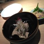 Purattosutandomoto - 鶏白レバーのオイル漬け480円