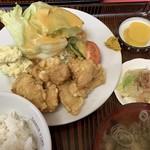 大茂 - 料理写真:ムネ肉の唐揚げ定食850