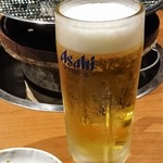 炭火焼肉 河内屋 - ◆生ビール(中) 400円(税別)