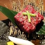 炭火焼肉 河内屋 - ◆厚切りハラミ 1,380円(税別)