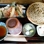 蕎麦と雑穀料理 杜々 - 八王子野菜の天せいろ 1700円(税別)
