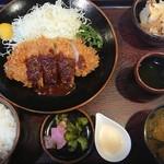 レストハウス国界 - 『ロースA(150g)定食』(税込み1230円)