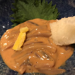 千年の宴 - あわびの肝醤油入り烏賊の塩辛