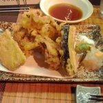 旬菜美酒 びんび家 - たこの天ぷら