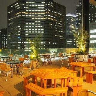 大都会の屋上テラス!開放的なおしゃれ空間です!