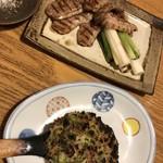106892734 - そばの焼き味噌/鴨の網焼き