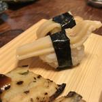 都寿司 - 白ミル貝