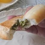 伽羅リエゾン - 「高菜おやき」中はこんな感じ