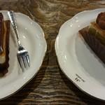 le bonbon et chocolate (ボンボン・ショコラ) - 左アプリコショコラ 右ピスターシュ