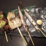 鮮魚とおばんざい 浜金 - 魚串わりあわせ680円♪