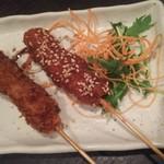 海の台所 はまきん - 串カツ(どて✖️1、ソース✖️1)♪100円♪