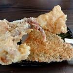 106917385 - 天ぷらはセルフで自由に取って、食べ終わりにレジで申告して精算です(^O^)/