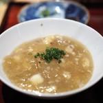 銀座 しのはら - 新生姜の炊き込みご飯にフカヒレと伊勢海老の餡かけ