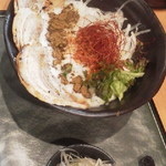和 soba 天光 - 黒胡麻担々麺+叉焼