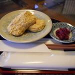 つむぎカフェ - きなこ餅セット