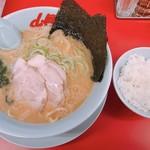 山岡家山形西田店 - 醤油ラーメンJAFチャーシュー 650円 半ライス 120円